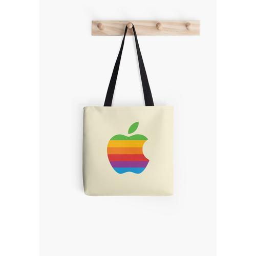 Retro Apple Logo Tasche