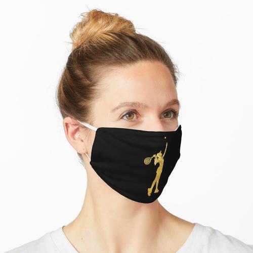 Mädchen-Tennisspielerin Gold, Goldene Tennisspielerin Maske