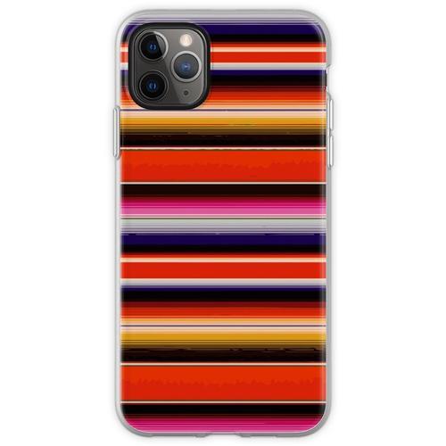 Serape Saltillo Orange Flexible Hülle für iPhone 11 Pro Max