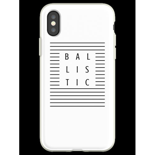 Ballistische Streifen Flexible Hülle für iPhone XS