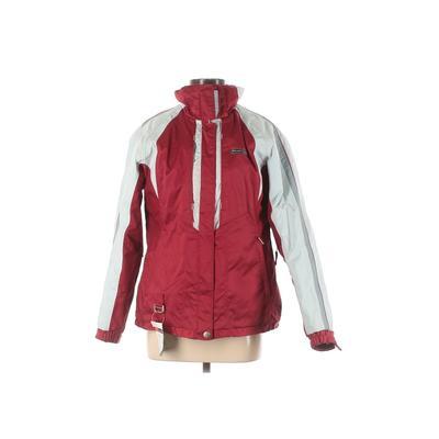 Phenix Snow Jacket: Red Color Block Activewear - Size 8