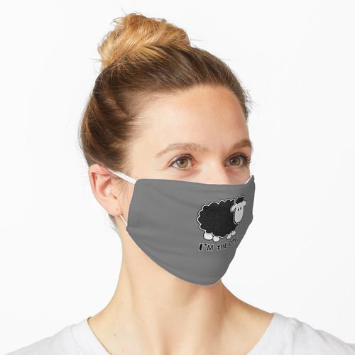 Ich bin das eine schwarze Schaf Maske