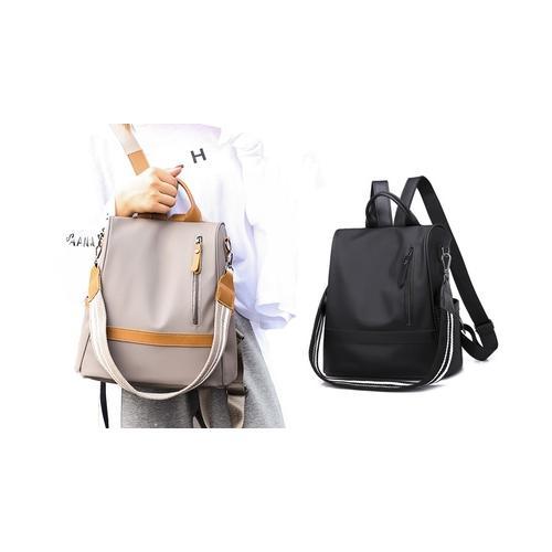 Anti-Diebstahl Damen-Rucksack: Beige