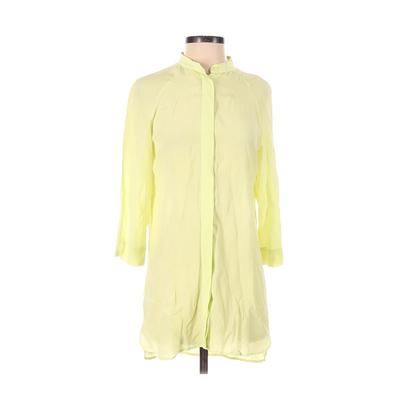 Soft Surroundings - Soft Surroundings Casual Dress - Shirtdress: Green Solid Dresses - Used - Size X-Small