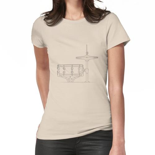 T-Shirt Batterie Zeichnung Frauen T-Shirt