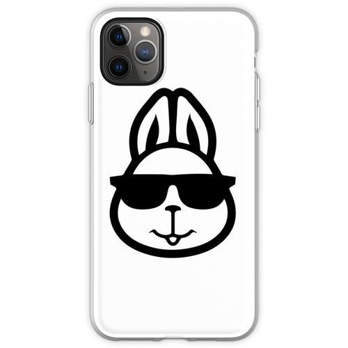 Hase mit Brille - Hase mit Brille lustig - Hase mit Brille Desi Flexible Hülle für iPhone 11 Pro Max