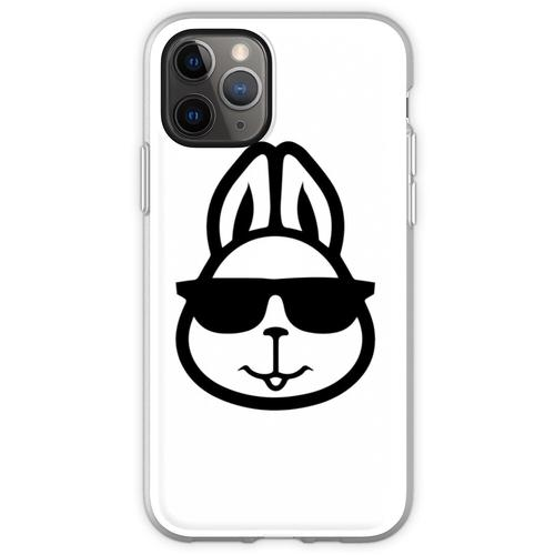Hase mit Brille - Hase mit Brille lustig - Hase mit Brille Design - Flexible Hülle für iPhone 11 Pro