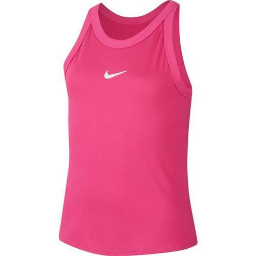"""""""NIKE Mädchen Tennistop \""""NikeCourt Dri-Fit Tank\"""""""", Größe XL in VIVID PINK/WHITE"""""""