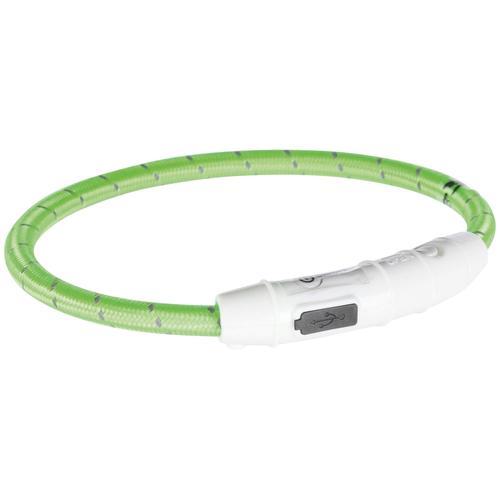 TRIXIE Hunde-Halsband USB Flash, Kunststoff-Nylon, in versch. Größen grün Hundehalsbänder Hund Tierbedarf