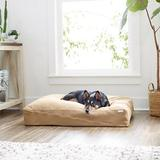 Frisco Heathered Woven Zipper Orthopedic Pillow Dog Bed, Tan, Large