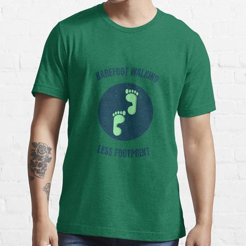 Barfuß laufen, weniger Platzbedarf Essential T-Shirt