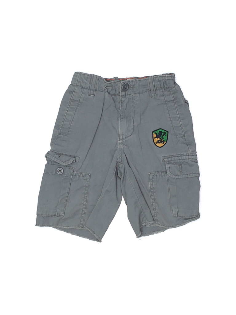 Crewcuts Cargo Shorts: Blue Solid Bottoms - Size 4