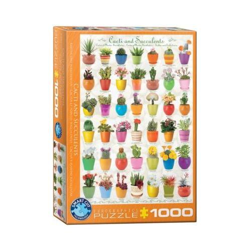 Puzzle 1000 Teile-Kakteen und Sukkulenten