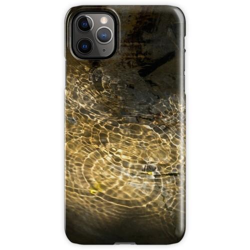 Goldener Sonnenstrahl - beleuchtete Brunnenwellen iPhone 11 Pro Max Handyhülle