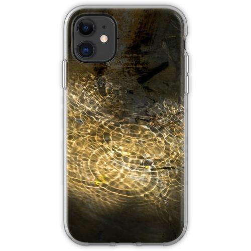 Goldener Sonnenstrahl - beleuchtete Brunnenwellen Flexible Hülle für iPhone 11