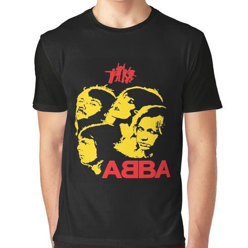 Mama Mia Musikdisco Grafik T-Shirt