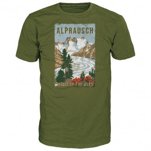 Alprausch - Gletschersicht T-Shirt Gr XXL oliv