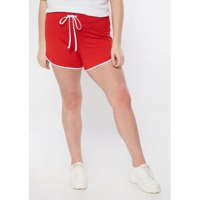 Rue21 Womens Plus Size Red Super Soft Dolphin Shorts - Size 1X