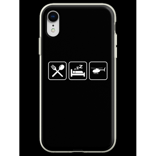 Helicopter - Eat, Sleep, Fly Helicopter Flexible Hülle für iPhone XR