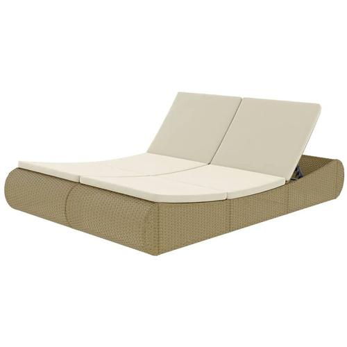 YOUTHUP Outdoor-Sonneninsel Poly Rattan Beige