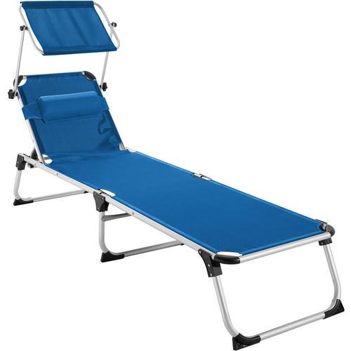 Sonnenliege Aurelie - Strandliege, Beachliege, Sonnenliege - blau