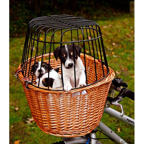 TRIXIE Tierfahrradkorb, bis 8 kg, mit Gitter, BxTxH: 44x48x33 cm beige Tierfahrradkorb Hundetransport Hund Tierbedarf