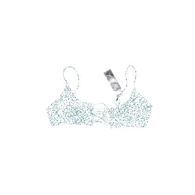 Tavik Swimwear Swimsuit Top White Floral Swimwear - Used - Size Large