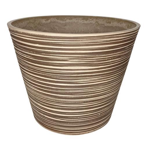 6x Blumentopf rille taupe zylinder ø 40 / H33
