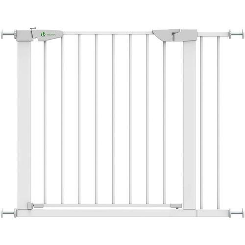 Treppenschutzgitter Ausziehbar Selbstschließend, ohne Bohren 74-96cm