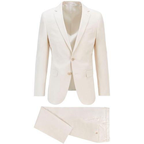 BOSS by Hugo Boss Slim-Fit Anzug aus elastischer Bio-Baumwolle