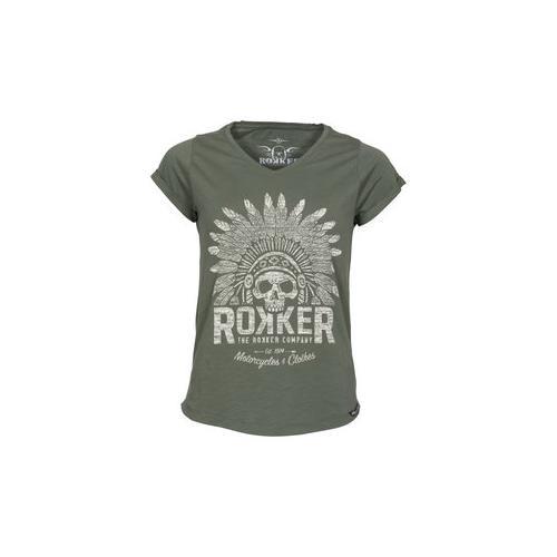 Rokker Indian Bonnet Damen T-Shirt grau S