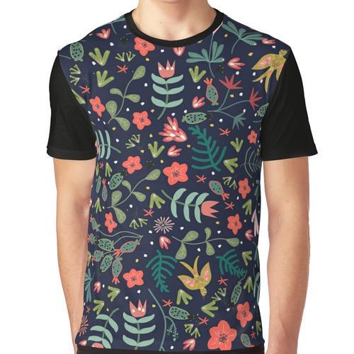 Im Garten herumfliegen Grafik T-Shirt