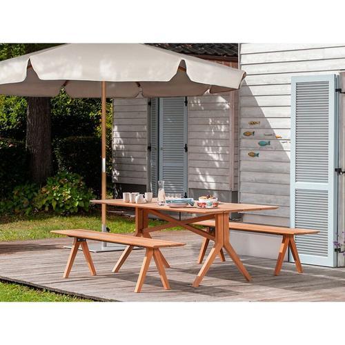 Sonnenschirm ohne Neigung, Gartenschirm Marktschirm, Ø 3m - Taupe