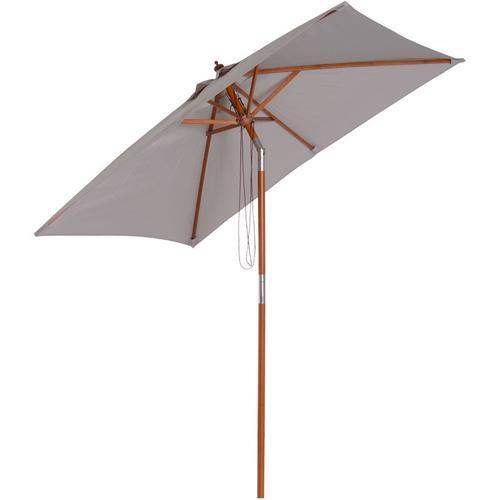 Outsunny® Sonnenschirm Gartenschirm Balkonschirm knickbar Grau - grau
