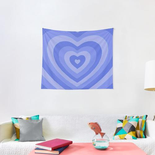 y2k heart blue Wall Tapestry