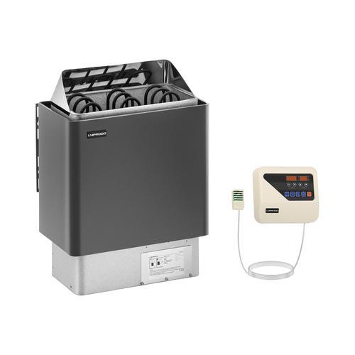 Uniprodo Set Saunaofen mit Saunasteuerung - 4,5 kW - 30 bis 110 °C - LED-Display UNI_SAUNA_G4.5KW-SET