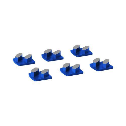 MSW Schleifsegment - für Beton - Körnung 30 - 2 Schleifelemente - 6 Stück MSW-FGGP-2