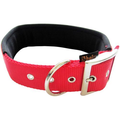 HEIM Hunde-Halsband, Nylon, mit Neopren-Futter rot Hundehalsbänder Hund Tierbedarf Hunde-Halsband