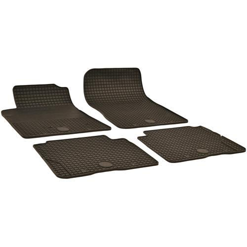 Walser Passform-Fußmatten, Mitsubishi, PAJERO IV, Geländewagen, (4 St., 2 Vordermatten, Rückmatten), für Mitsubishi Pajero BJ 2007 - heute schwarz Automatten Autozubehör Reifen Passform-Fußmatten
