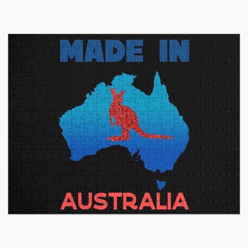 Made In Australia - Glücklicher Australien-Tag! Feier Zitat Puzzle