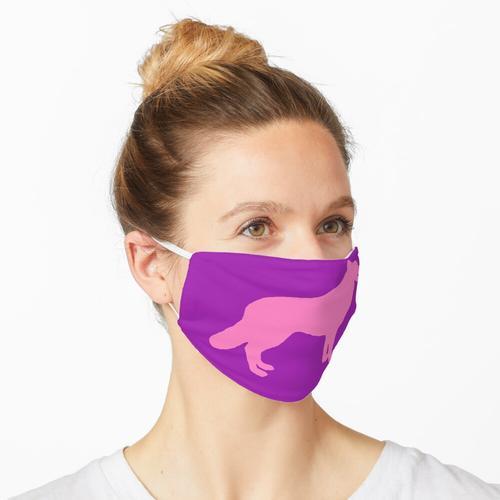 Pinker Hund / Pinker Wolf Maske