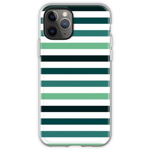 Linien - Petrolfarben Flexible Hülle für iPhone 11 Pro