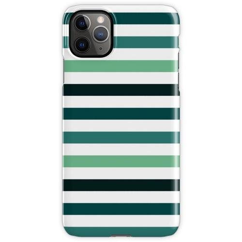 Linien - Petrolfarben iPhone 11 Pro Max Handyhülle