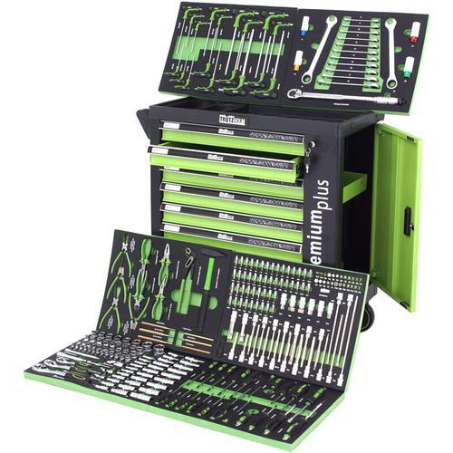 TrutzHolm® Werkstattwagen mit Werkzeug gefüllt 249tlg Chrom Vanadium Stahl Werkzeugwagen Premium