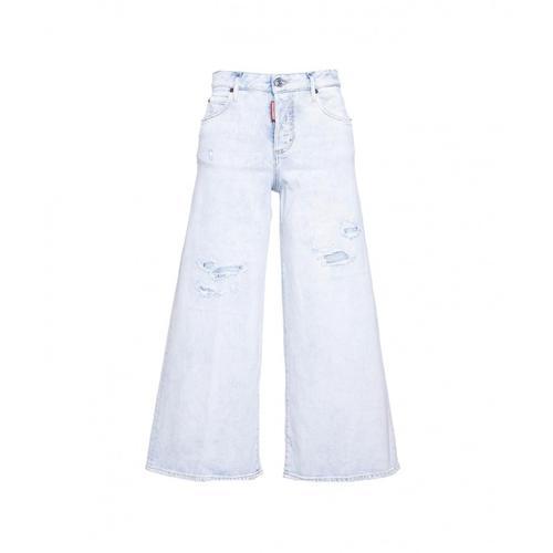Dsquared2 Damen Flared Jeans Blau