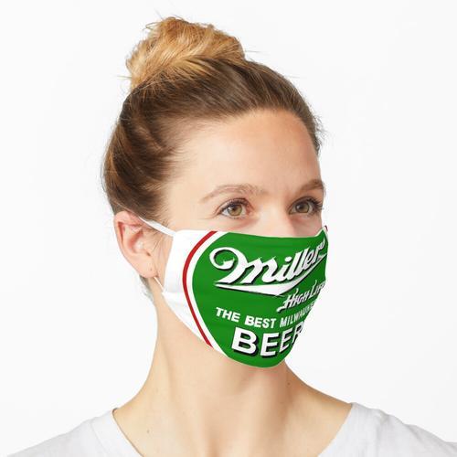 Miller High Life Runder grüner und roter Kreis Maske