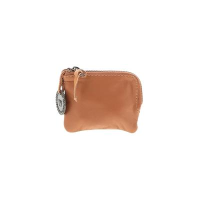 Wanderers Travel Co. Leather Coin Purse: Tan Solid Bags