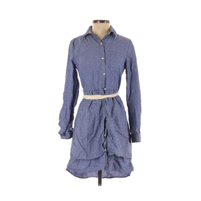 Isabella Sinclair - Isabella Sinclair Casual Dress - Shirtdress: Blue Dresses - Used - Size Small