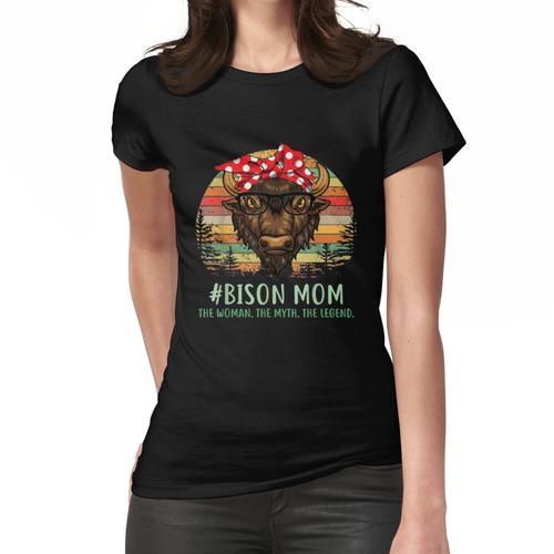 Bison Mom Muttertag Frauen T-Shirt