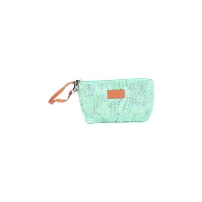 Sorial Wristlet: Green Solid Bags